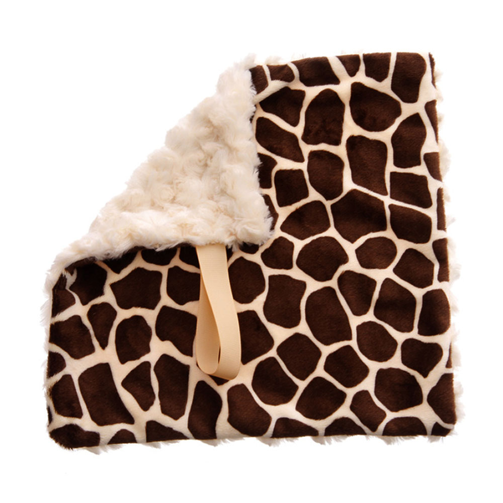 BbEmerald Cream Giraffe Baby Pacifier Blanket
