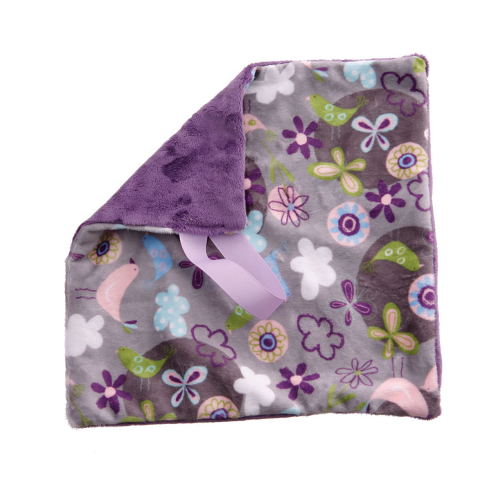 BbEmerald Lavender Fly Away Silver Baby Pacifier Blanket