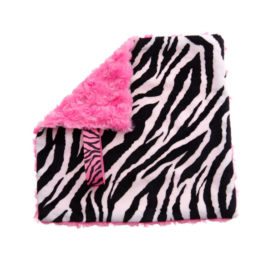 BbEmerald Pink Zebra Baby Pacifier Blanket