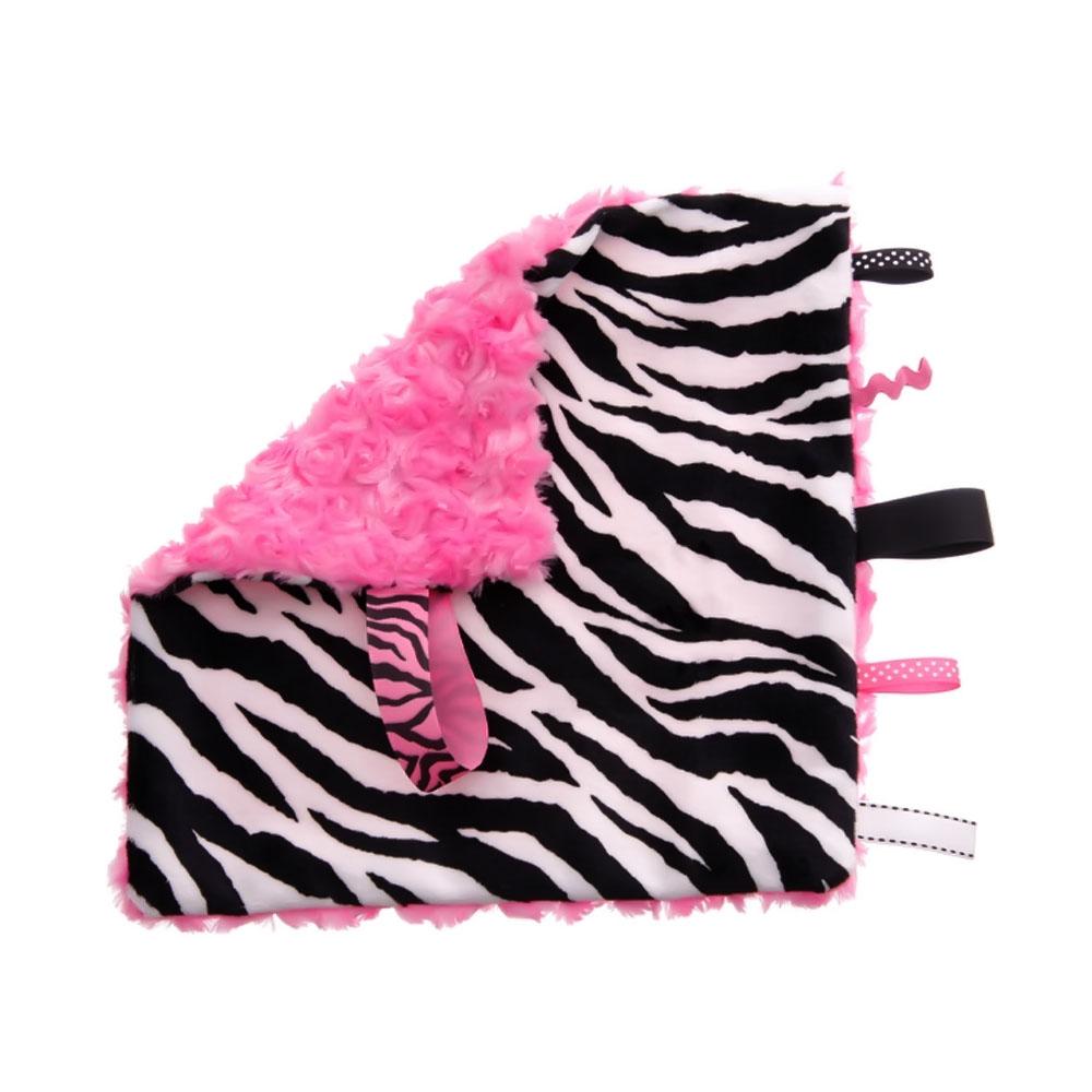 BbEmerald Pink Zebra Sensory Blanket