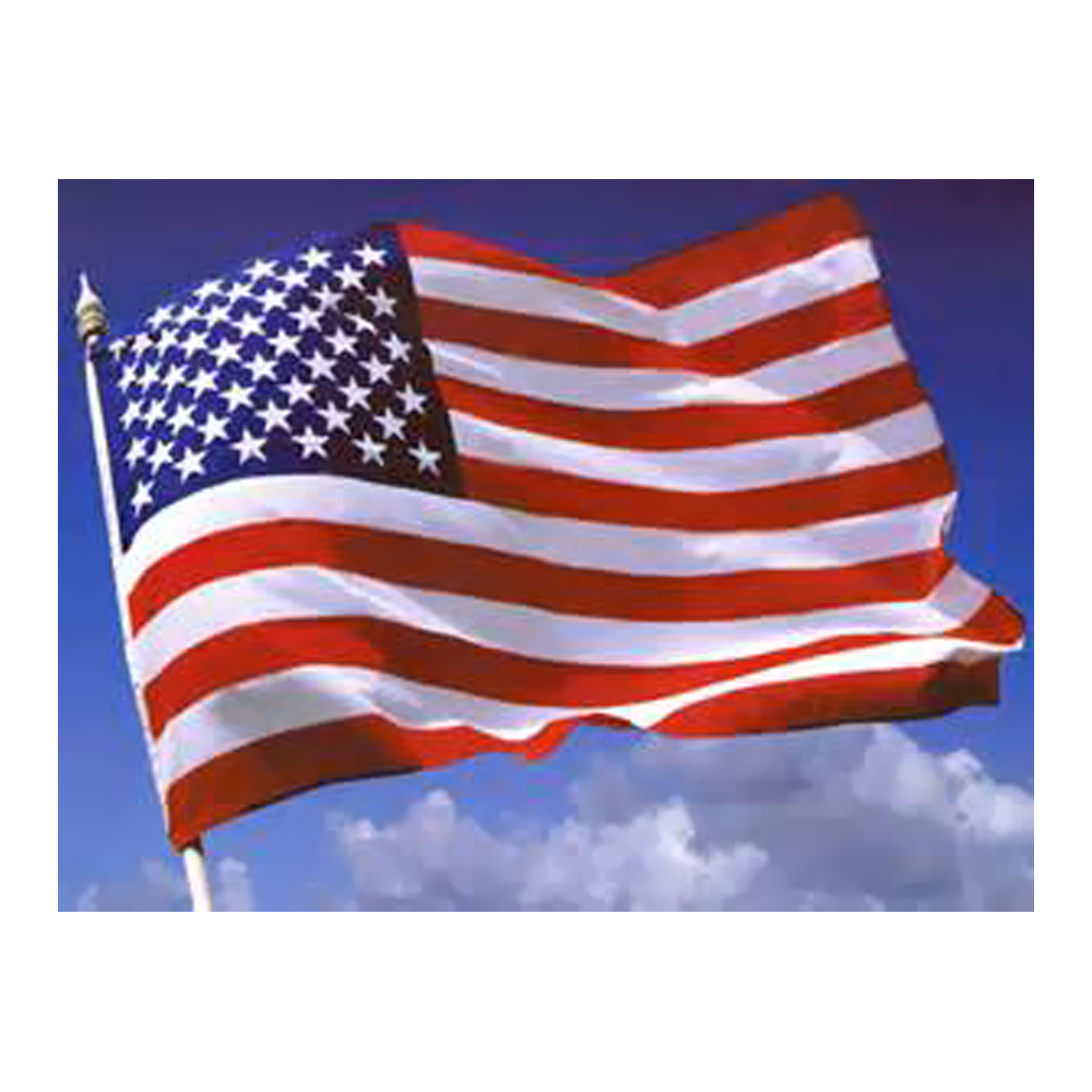 Ezpole flagpole outdoor 3x5 usa nylon flag ebay for 3 flag pole etiquette
