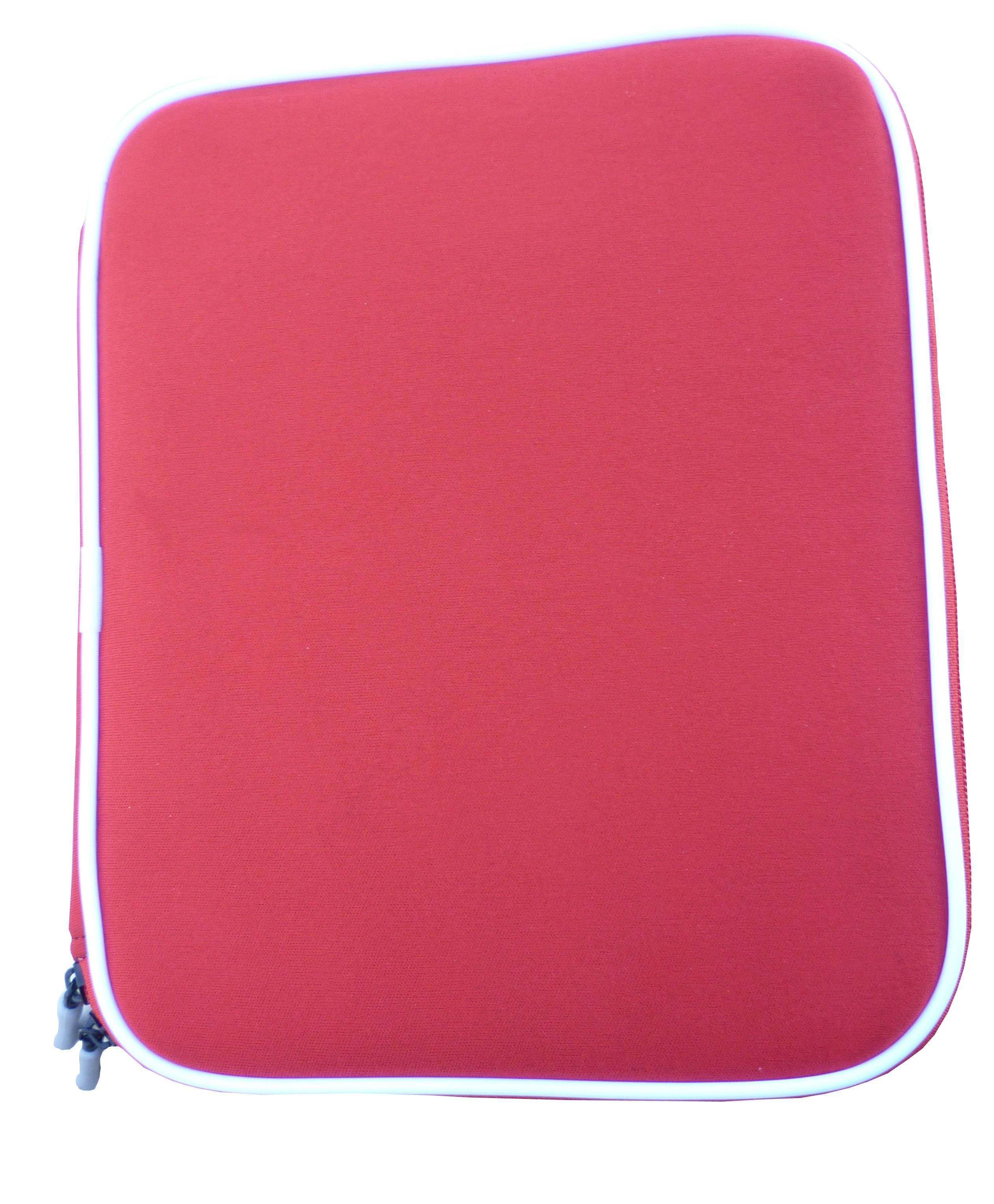 Offex Ipad Soft Form Fitting Portfolio Protective Carrying Case- Red Style Case With Zipper