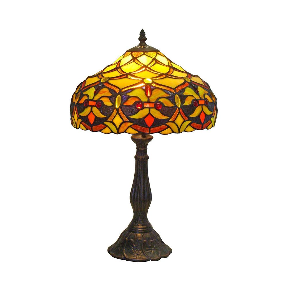details about amora lighting am008tl12 decorative tiffany style floral. Black Bedroom Furniture Sets. Home Design Ideas