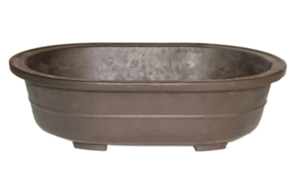 Bonsaiboy Brown Mica Bonsai Pot - Oval 14