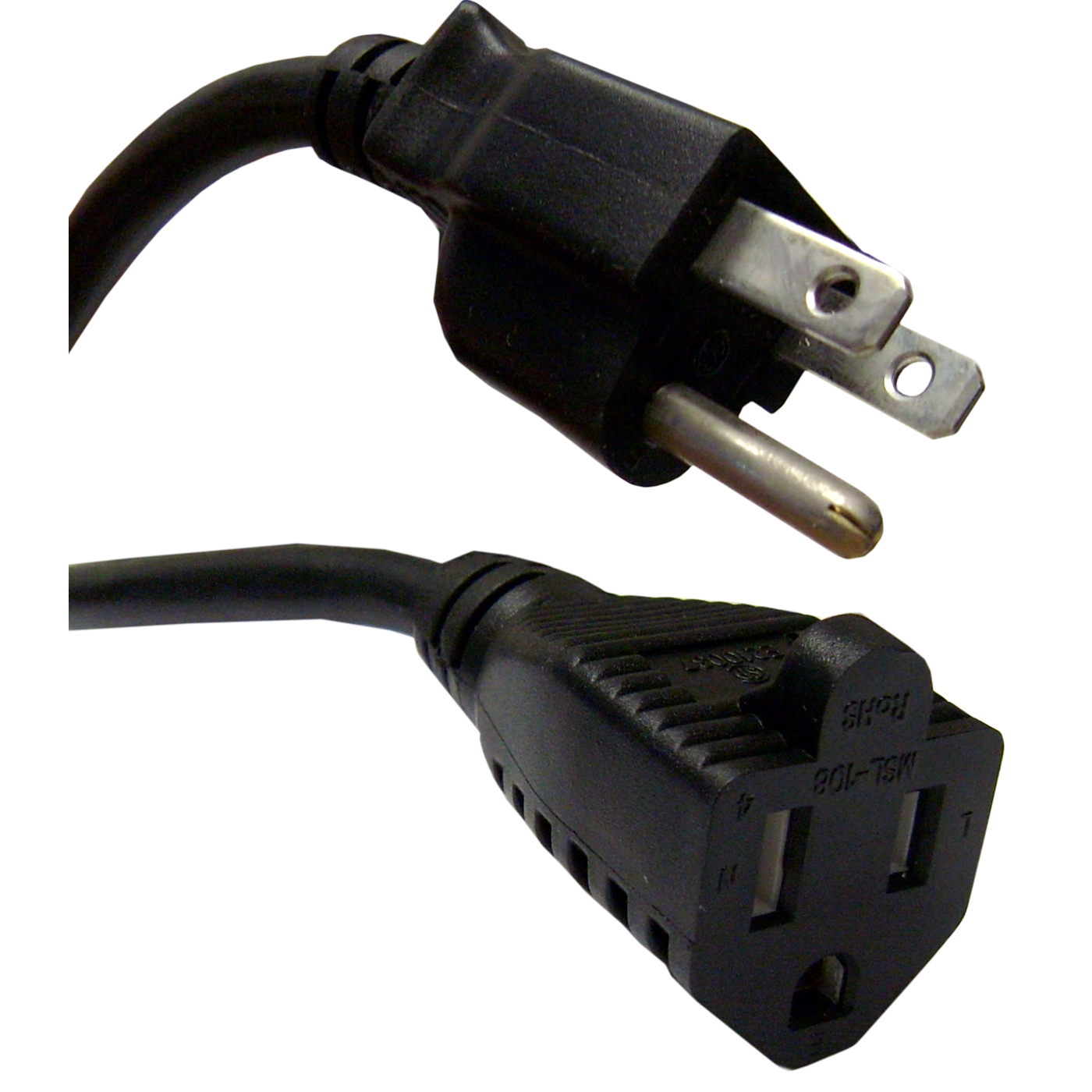 Offex Power Extension Cord, Black, NEMA 5-15P to NEMA 5-15R, 10 Amp, 10 foot