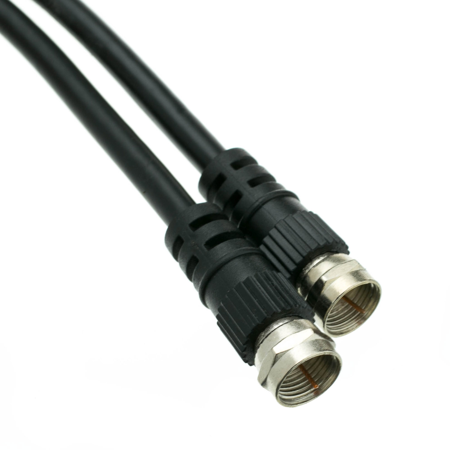 Offex Wholesale F-Pin/RG59 Coaxial Cable, 6 ft, Black [Electronics]