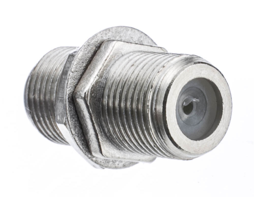Offex Wholesale F-Pin (Coax) Coupler, Female / Female, Panel Mount