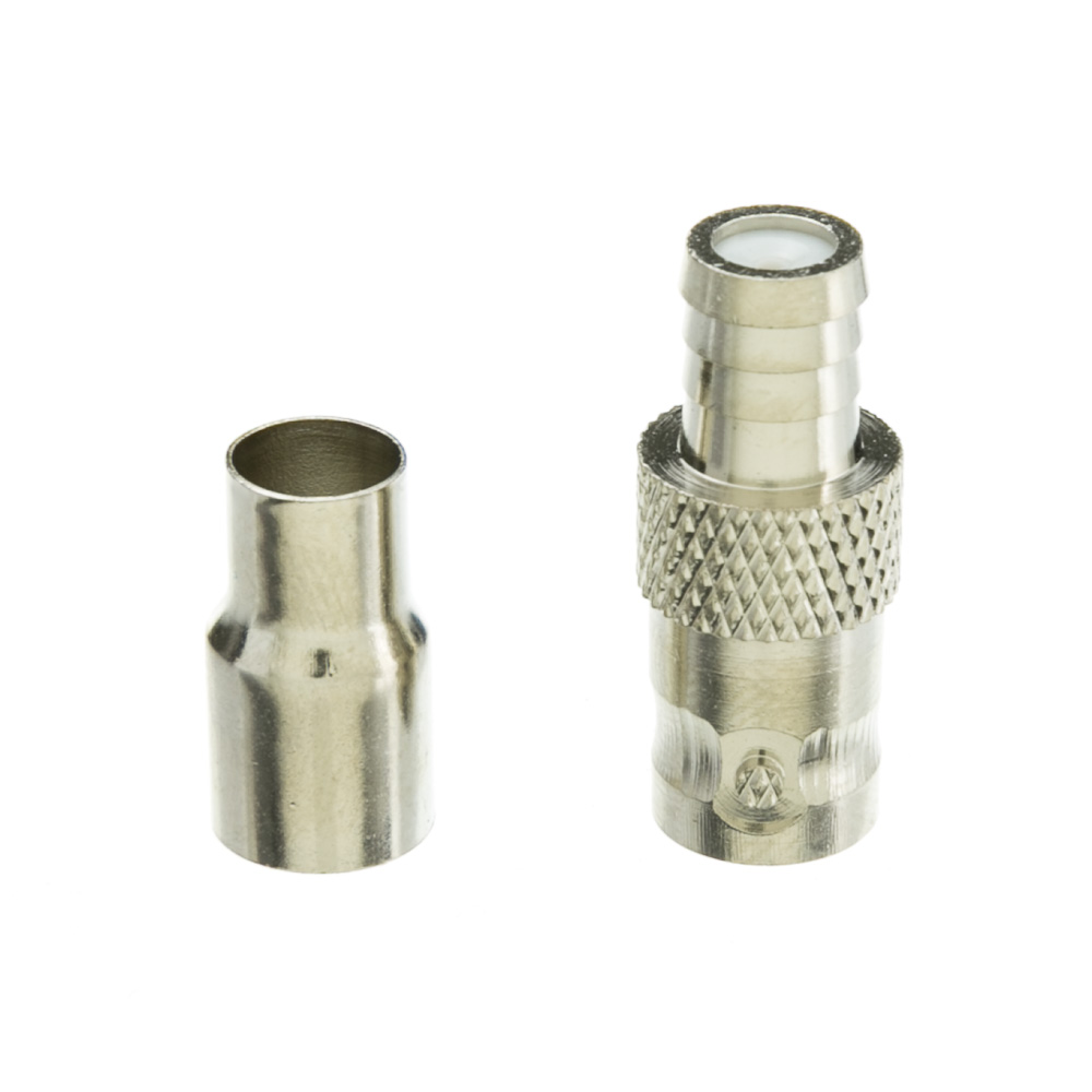 Offex BNC Female Crimp Connector for RG59/62, 2 Piece