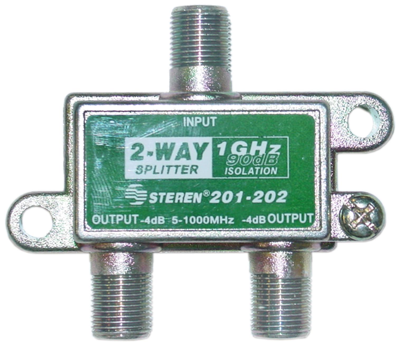 Offex F-pin Coaxial Splitter, 2 way, 1 GHz 90 dB