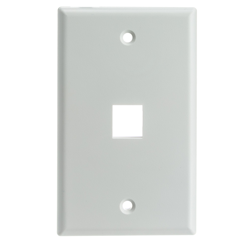 Offex Wholesale Wall Plate, 1Hole for keystone Jack, White [Electronics]