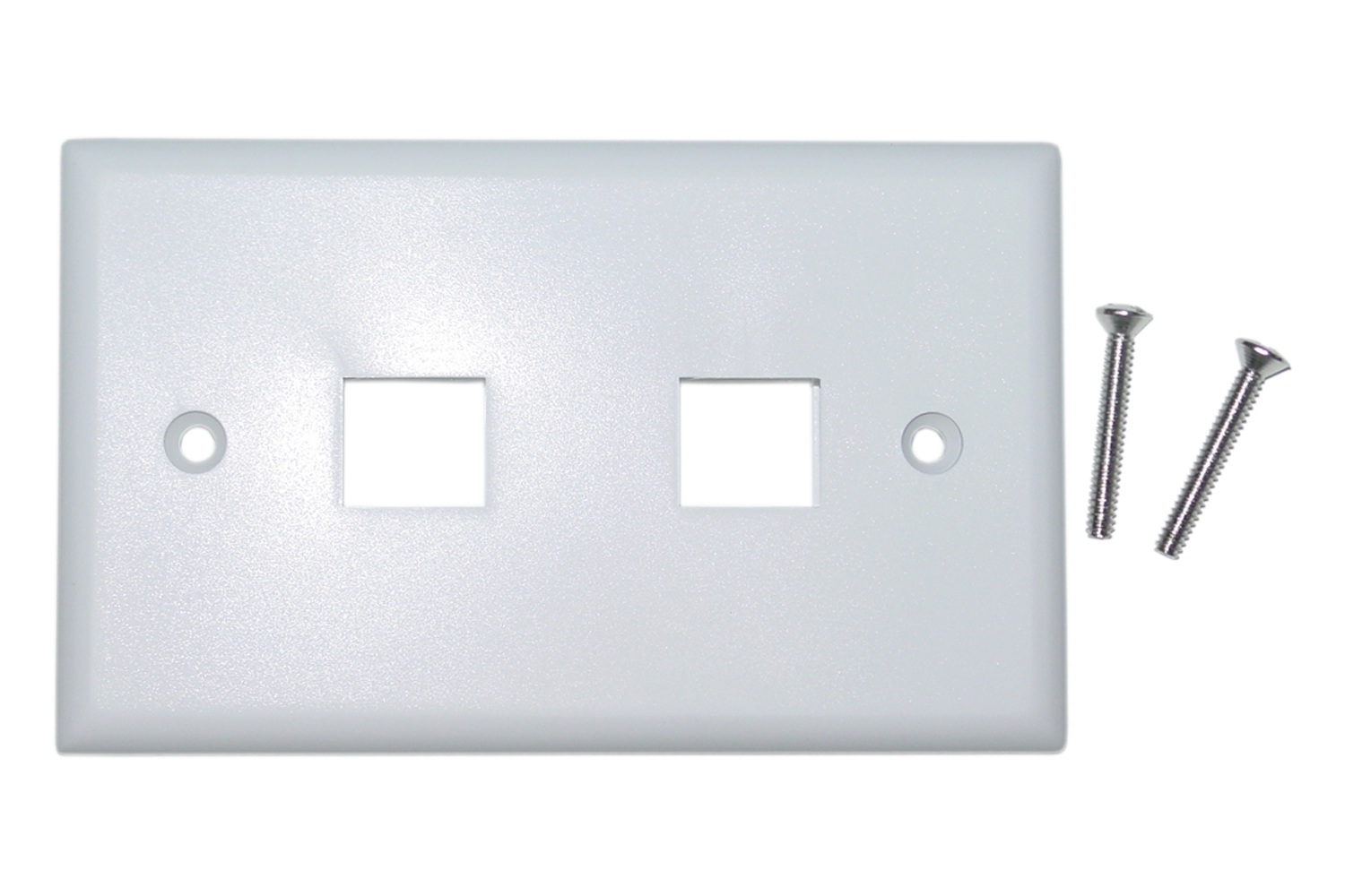 Offex Wholesale Wall Plate, 2 Hole for keystone Jack, White [Electronics]