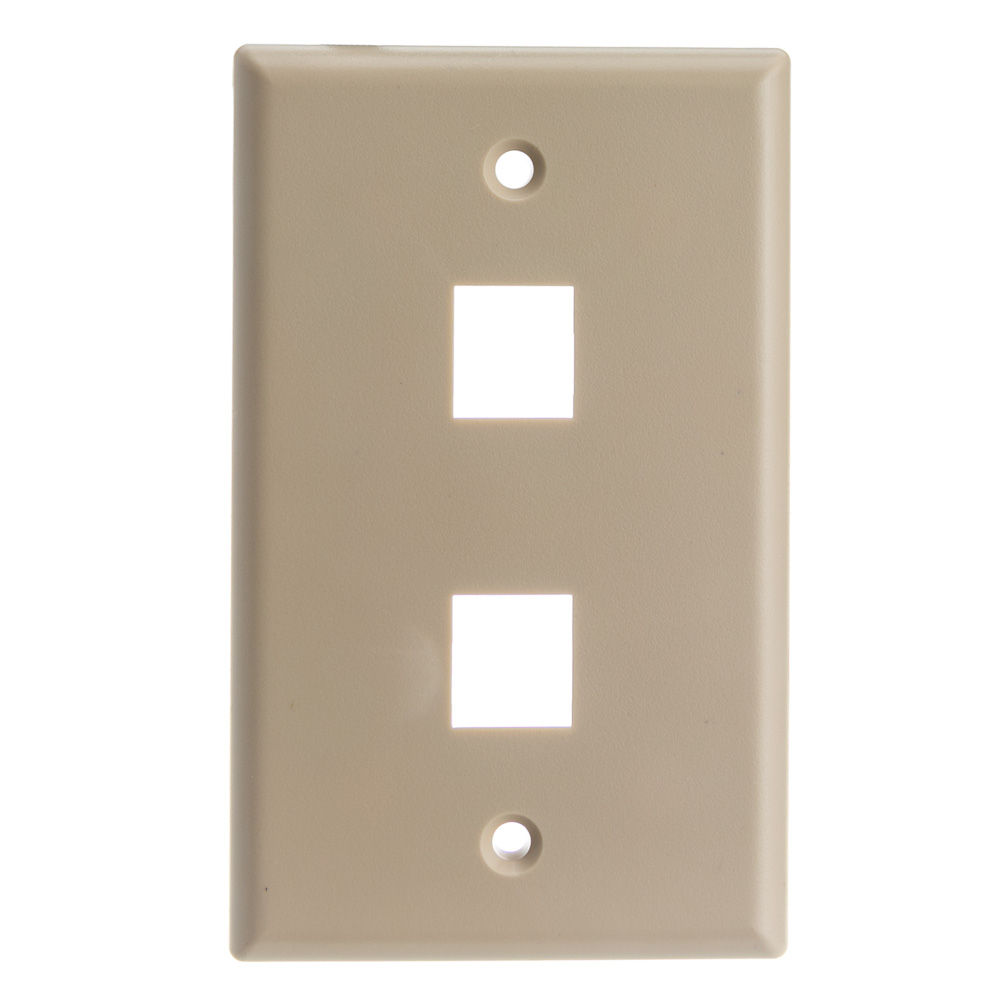 Offex Wholesale Wall Plate, 2 Hole for keystone Jack , Beige [Electronics]