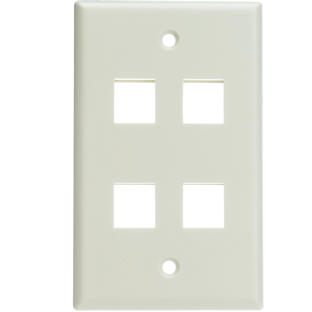Offex Wholesale Wall Plate,4 Hole for keystone Jack , White [Electronics]