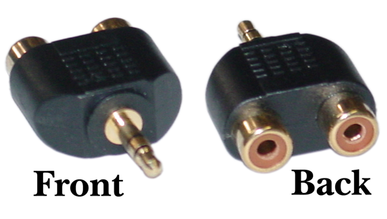 Offex Wholesale RCA to Stereo adapter, 2 x RCA Female / 1 x 3.5mm Stereo Male