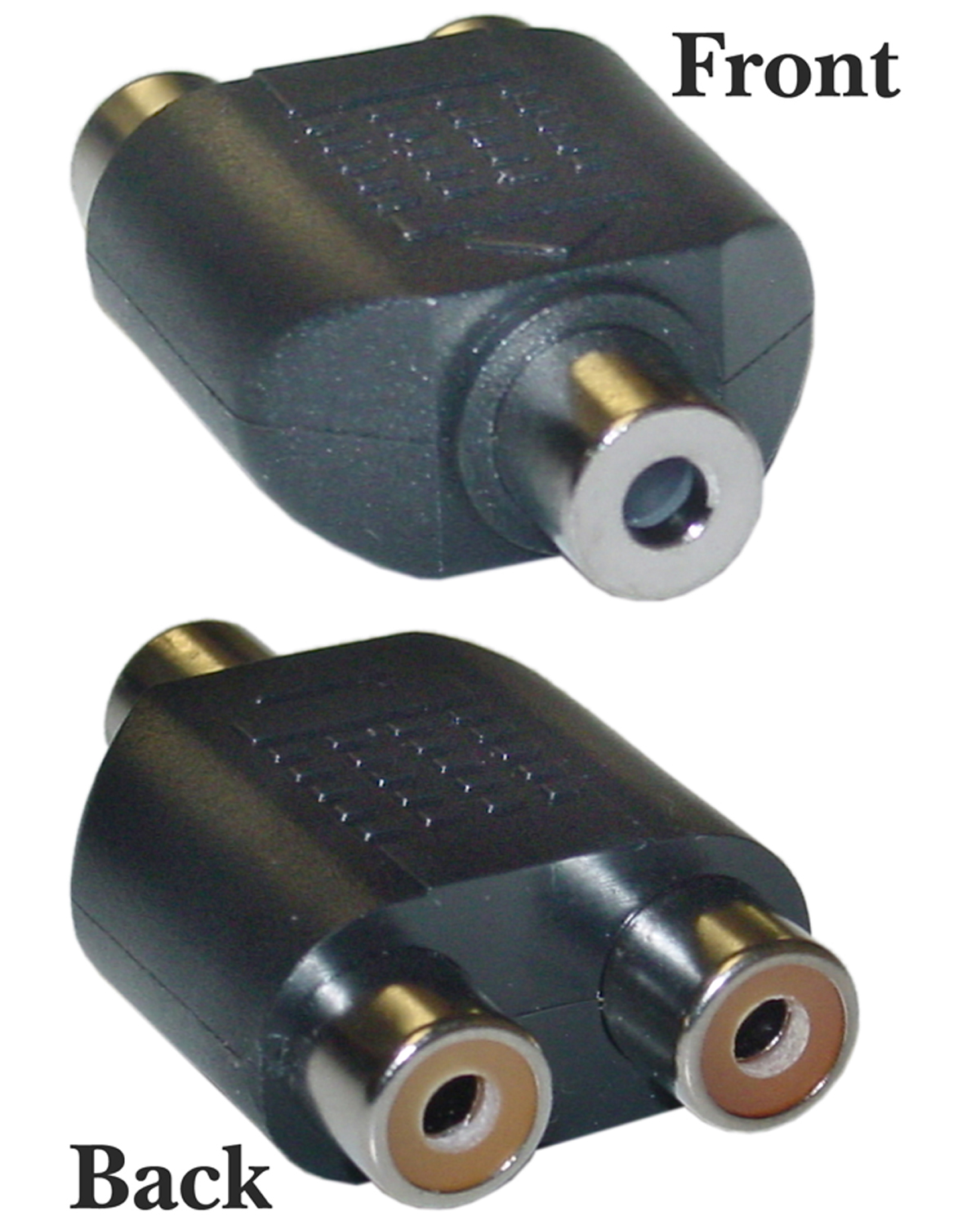 Offex Wholesale RCA to Stereo adapter, 2 x RCA Female / 1 x 3.5mm Stereo Female