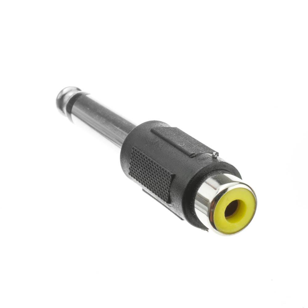 Offex Wholesale Mono to RCA adapter, 1/4 inch Mono Male / RCA Female