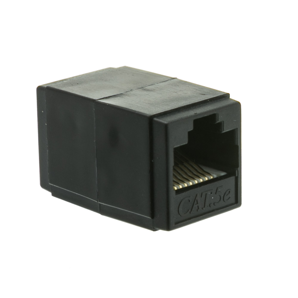 Offex Cat5e Coupler, Black, RJ45 Female, Unshielded
