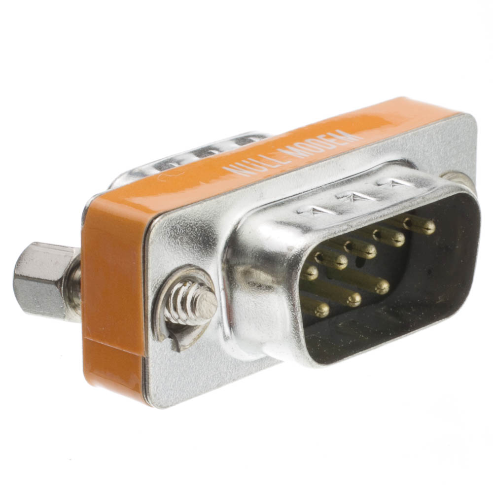 Offex Wholesale Mini Null Modem DB9 Male / DB9 Male, Adaptor