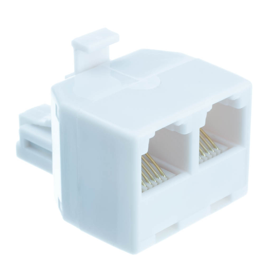 Offex Wholesale RJ11 / RJ12, 6P6C (Straight) T-Adaptor