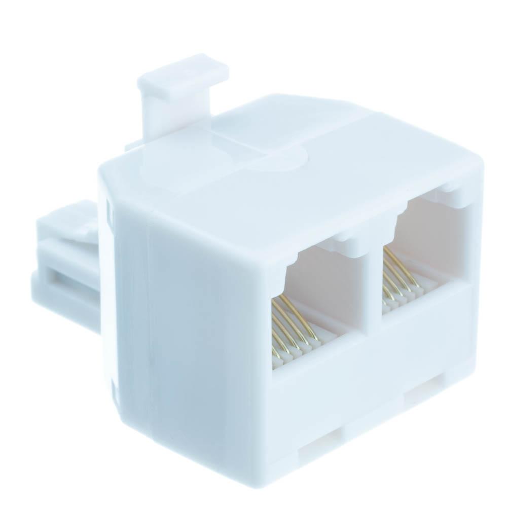 Offex Wholesale RJ11 / RJ12, 6P6C (Straight) T-Adaptor