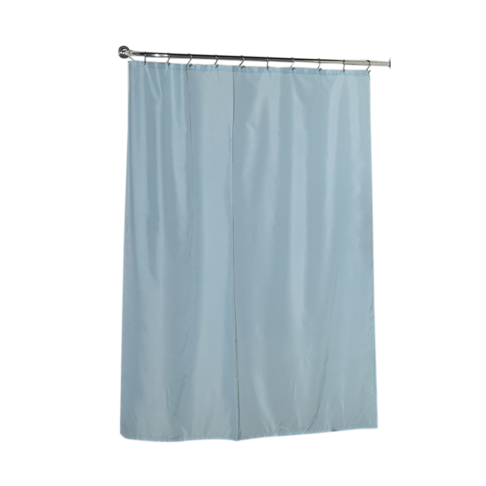 Standard Sized Polyester Fabric Shower Curtain Liner In Light Blue Ebay