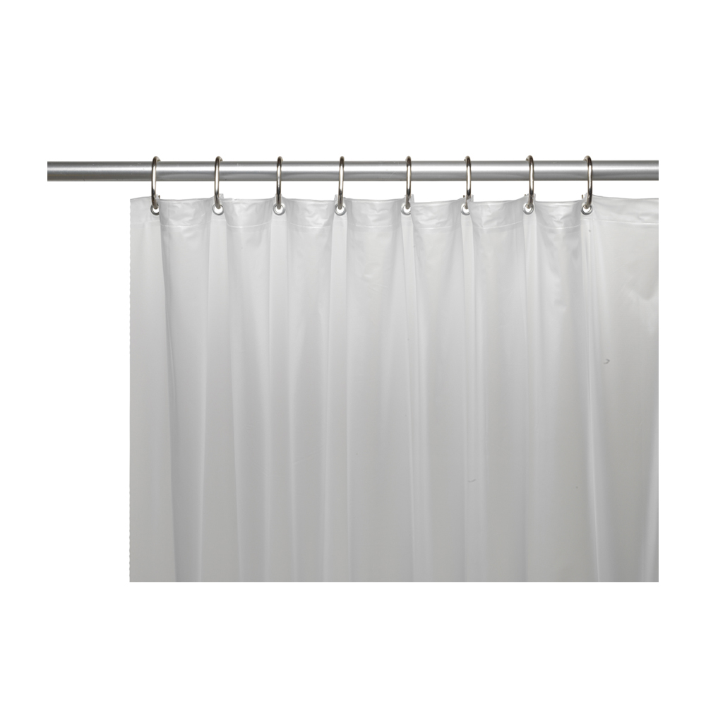 Shower Stall Sized 5 Gauge Vinyl Shower Curtain Liner In Frosty Clear Ebay
