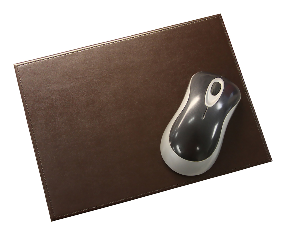 Offex Econo-line Dark Brown Leather Mouse Pad