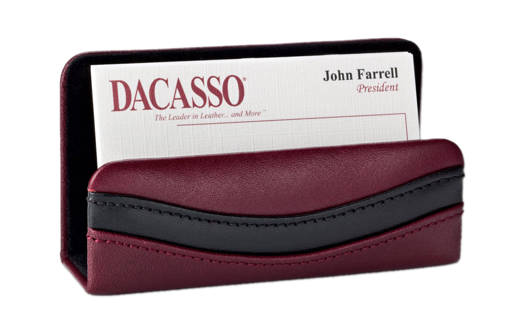 Offex Two-Tone Leather Business Card Holder