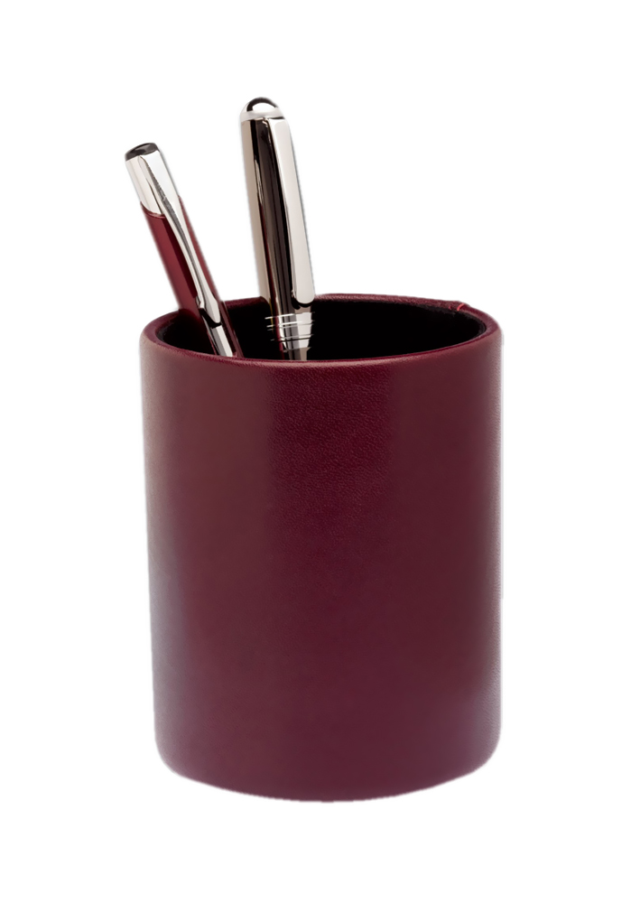 Offex Two-Tone Leather Round Pencil Cup