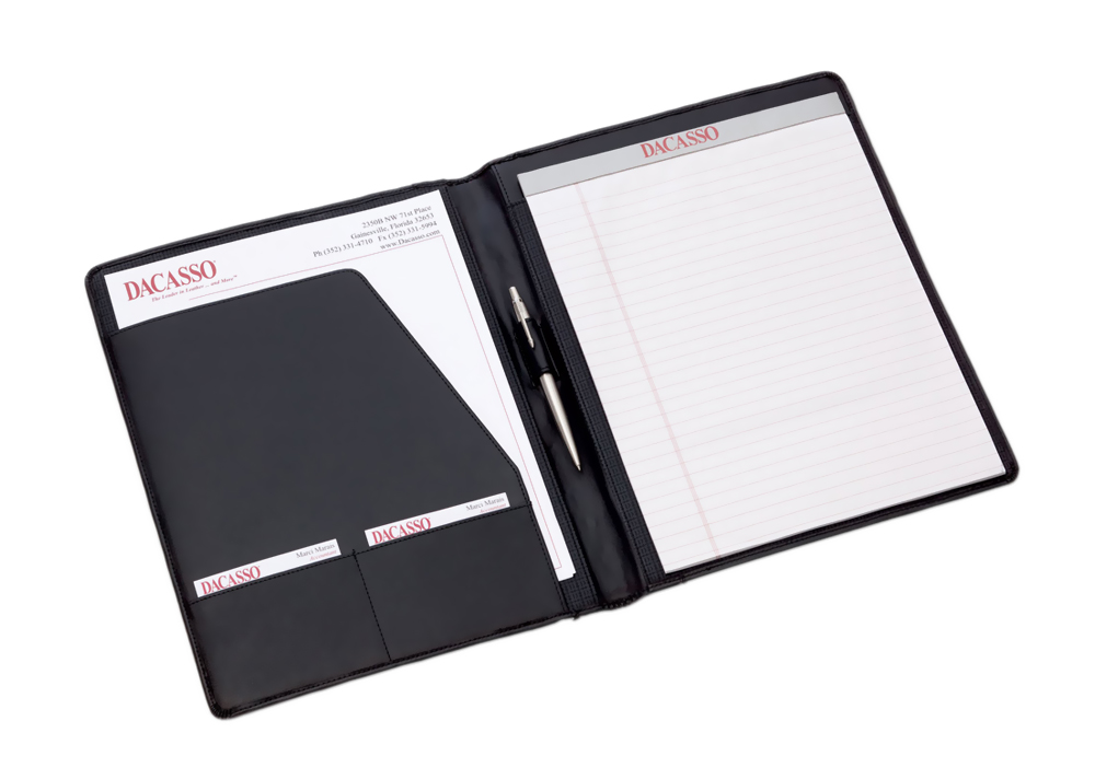 Offex Black Leather Standard Portfolio