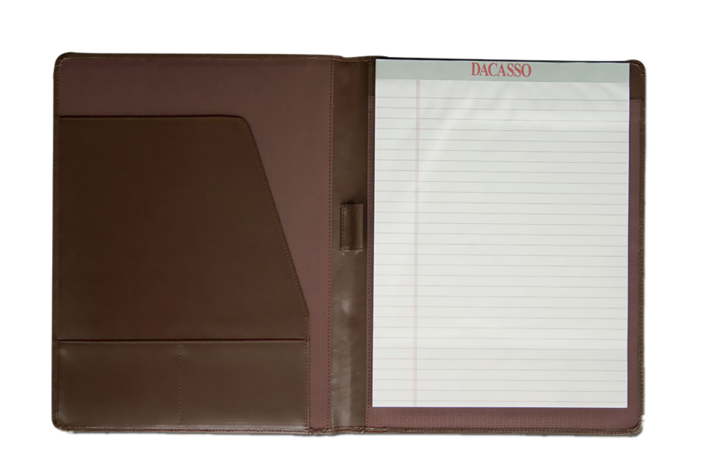Offex Chocolate Brown Leather Standard Padfolio