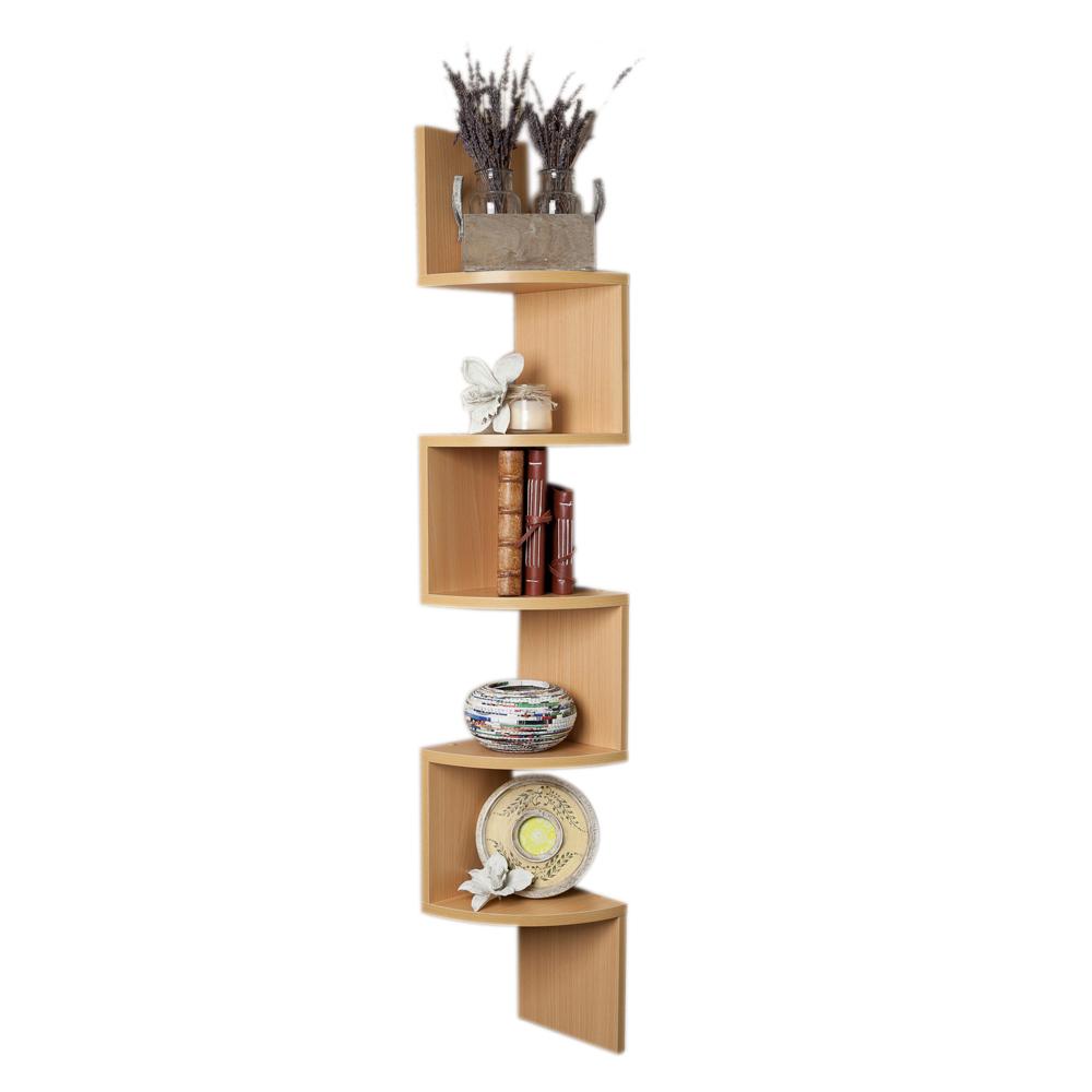 danyab home large laminated beech veneer corner wall mount. Black Bedroom Furniture Sets. Home Design Ideas