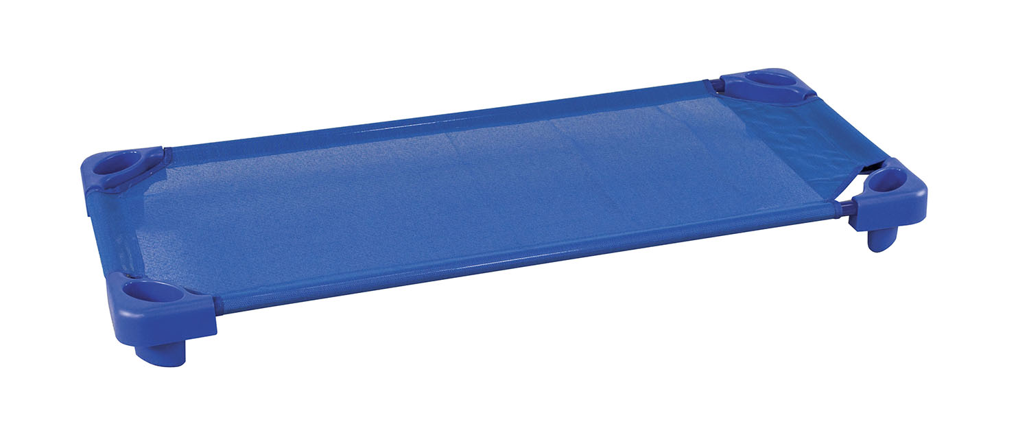 Offex Kids Children Stackable Kiddie Cot Single Standard Asm - Blue
