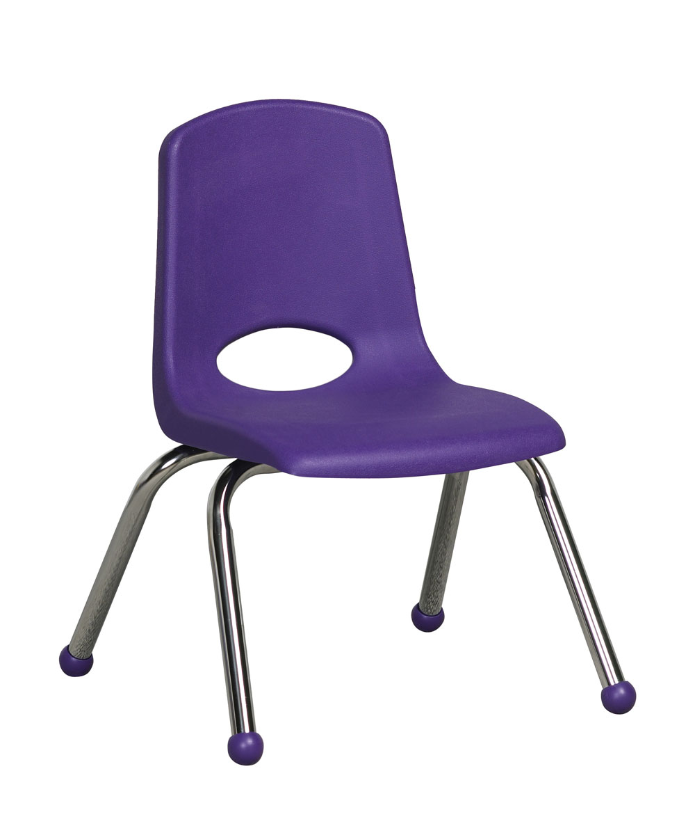 "Ecr4Kids PreSchool/ClassRoom 12"" Plastic Stack Chair W/ Chrome Legs - Purple at Sears.com"