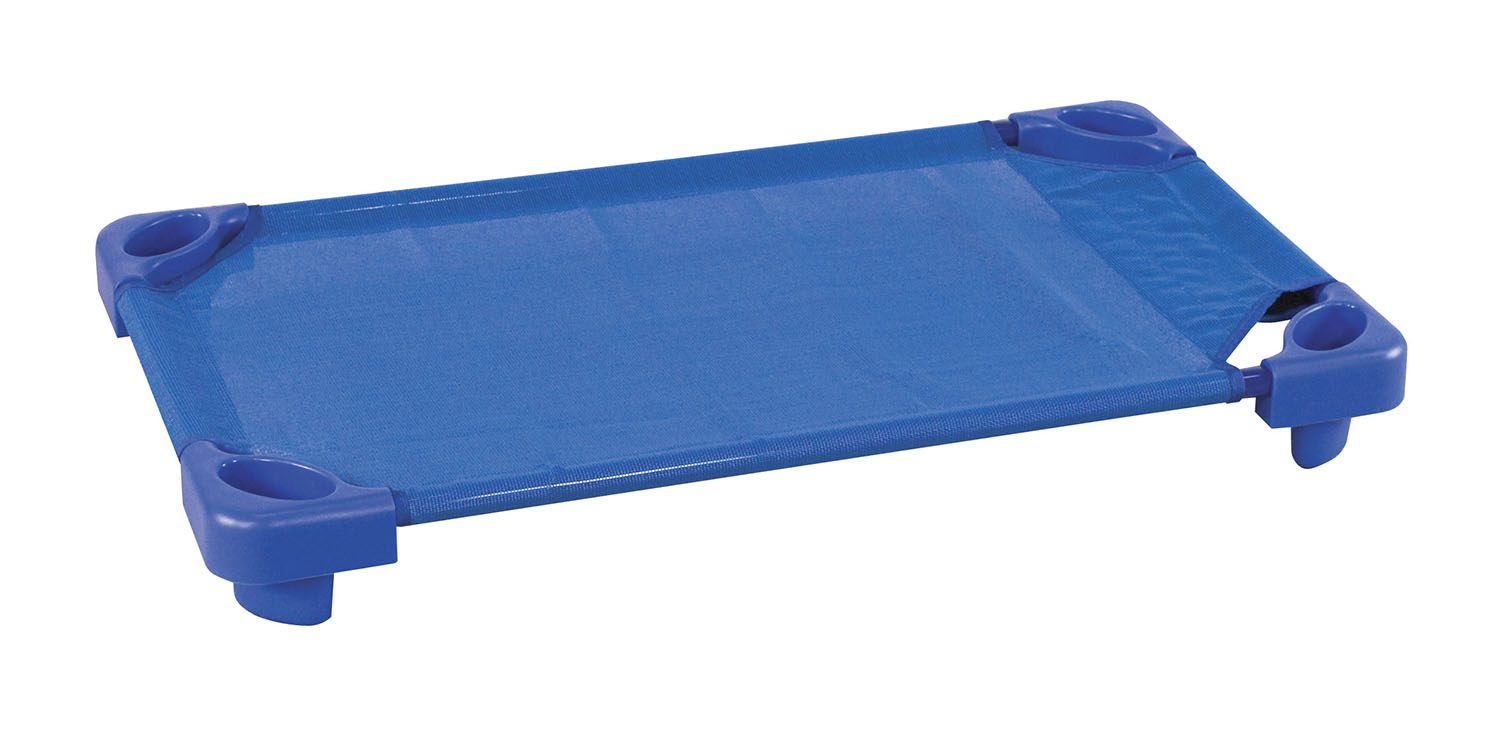 Offex Stackable Kiddie Cot Single Toddler ASM - Blue