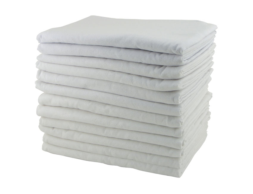 Offex Preschool Kids Cozy And Warm Daycare Rest Time Blanket - 12 Pack, White