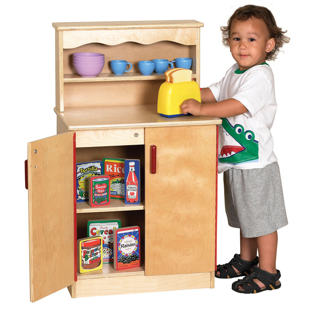 Offex Kids Play Birch Storage Cupboard with Door And Shelf