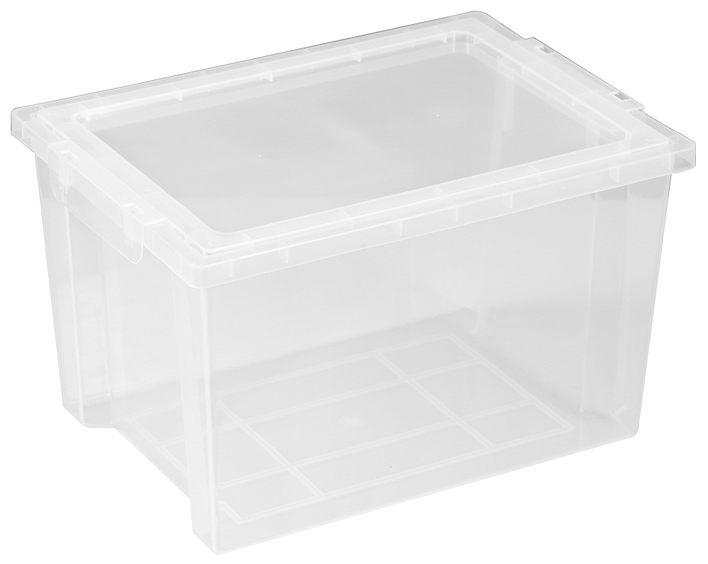 Offex Large Storage Bins with Lids Clear, 4 Pack