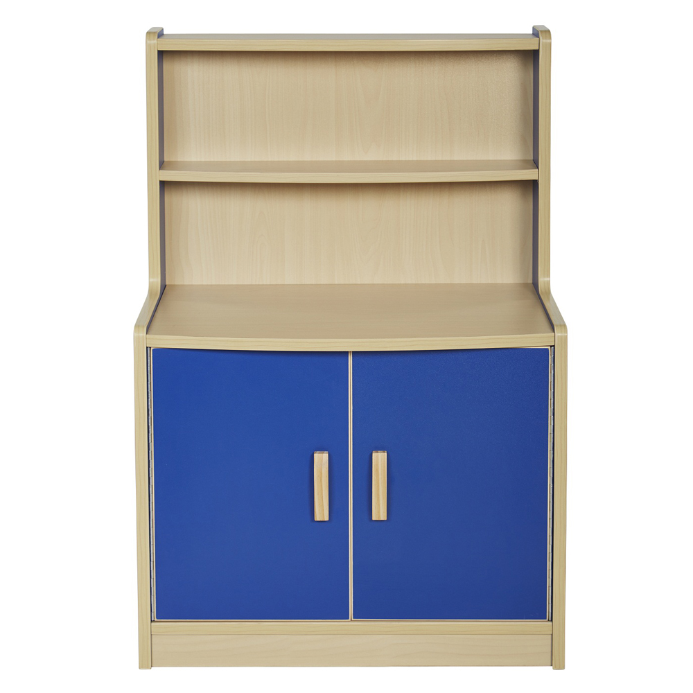 Offex Colorful Essentials Play Kitchen Blue Cupboard