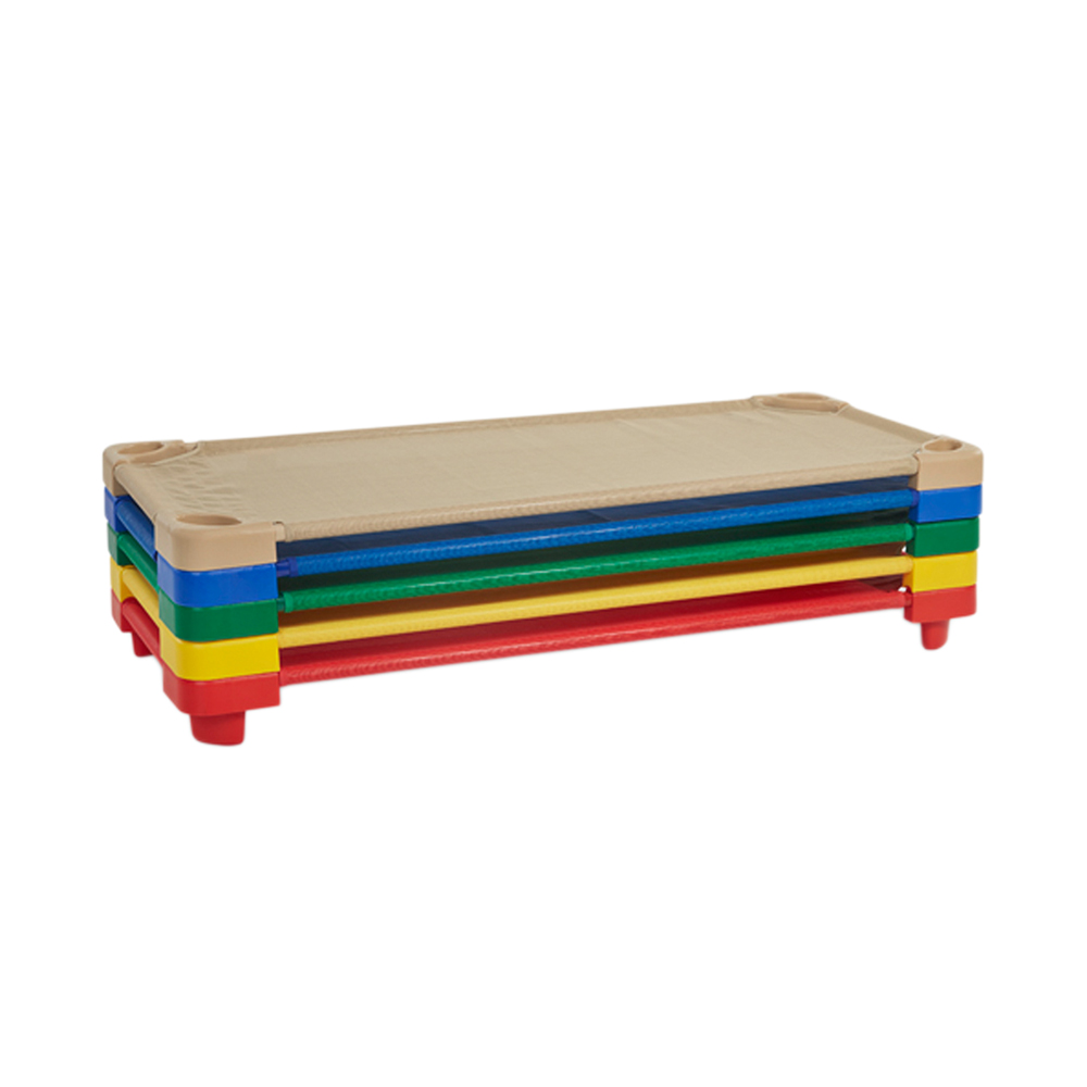Offex Children Standard Stackable Assembled Kiddie Cot 5 Piece