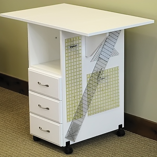 Craft desk with storage tables storage kids craft desk w picket fence craft space threedrawer - Craft desk with storage ...