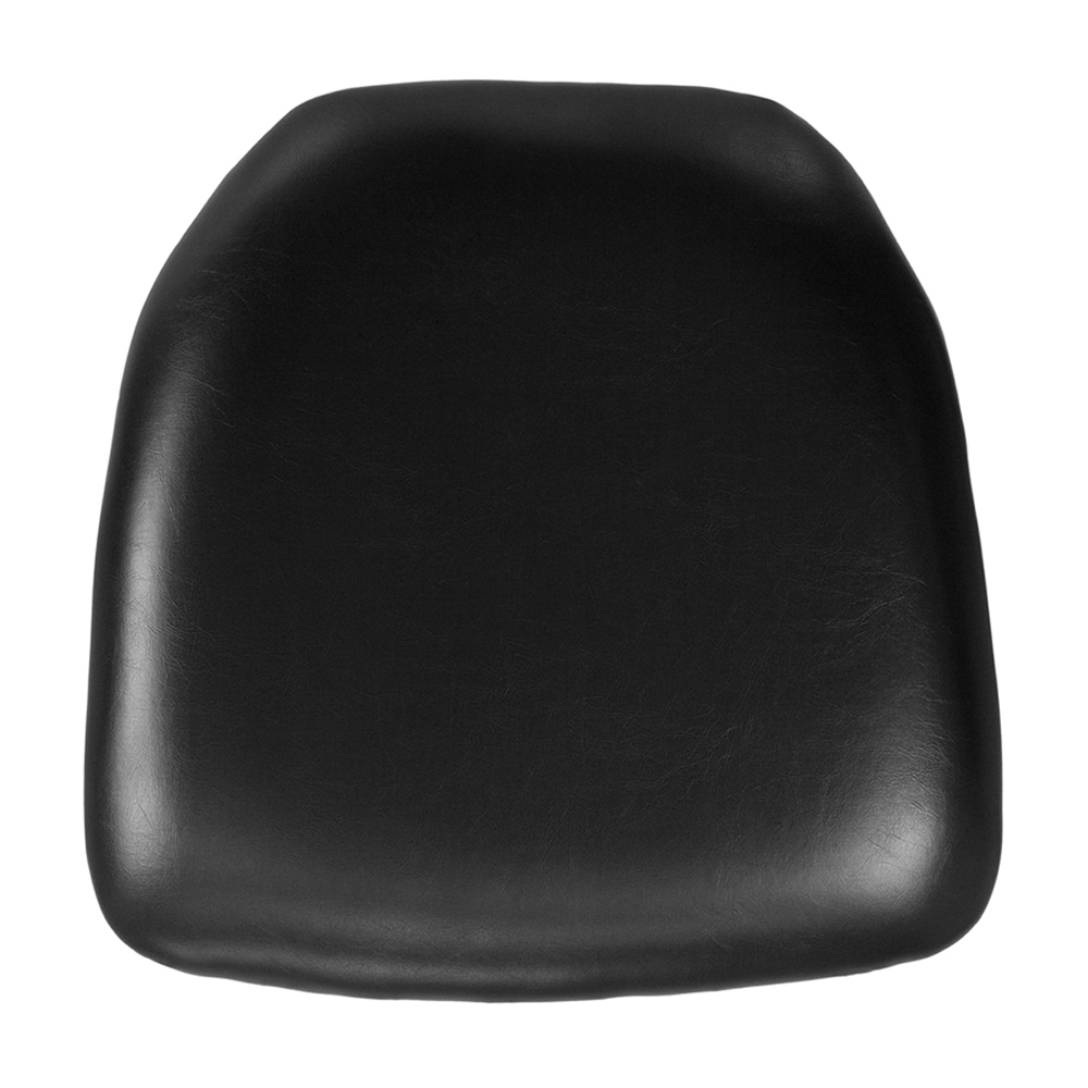 Offex Hard Black Vinyl Chiavari Chair Cushion [BH-BK-HARD-VYL-GG]