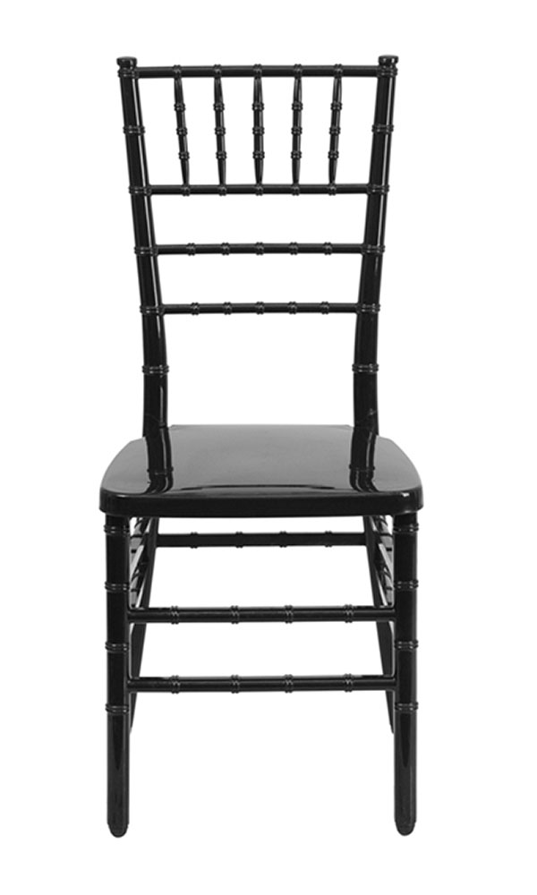 Offex HERCULES INDESTRUCTO Series Black Resin Stacking Chiavari Chair