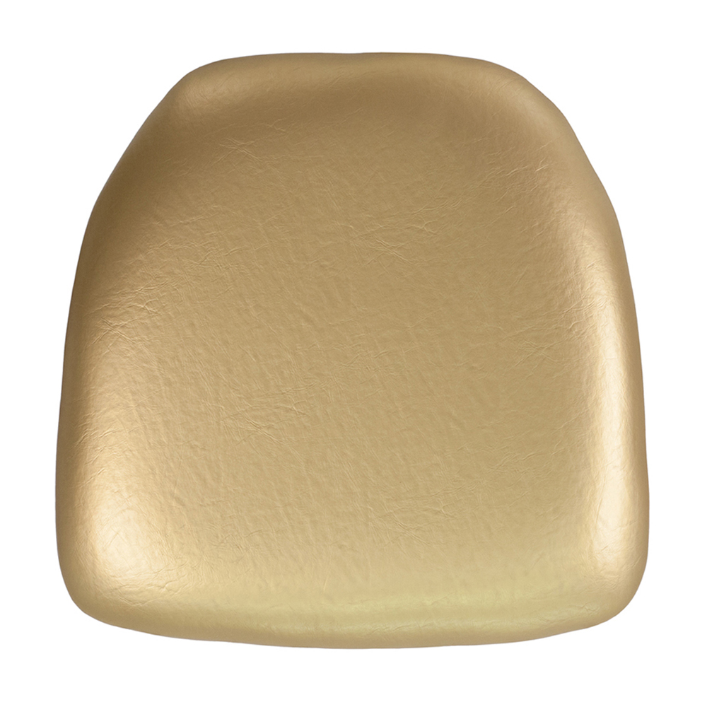 Offex Hard Gold Vinyl Chiavari Chair Cushion [BH-GOLD-HARD-VYL-GG]