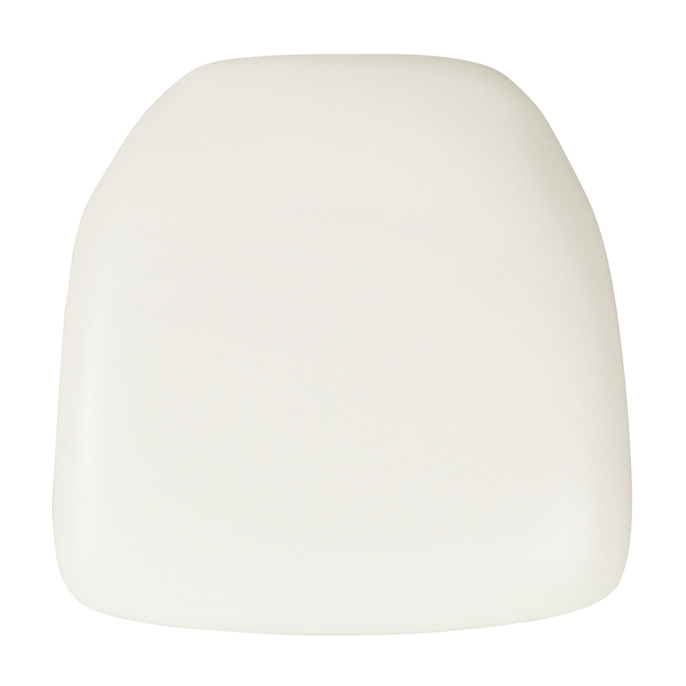 Offex Hard White Vinyl Chiavari Chair Cushion [BH-WH-HARD-VYL-GG]