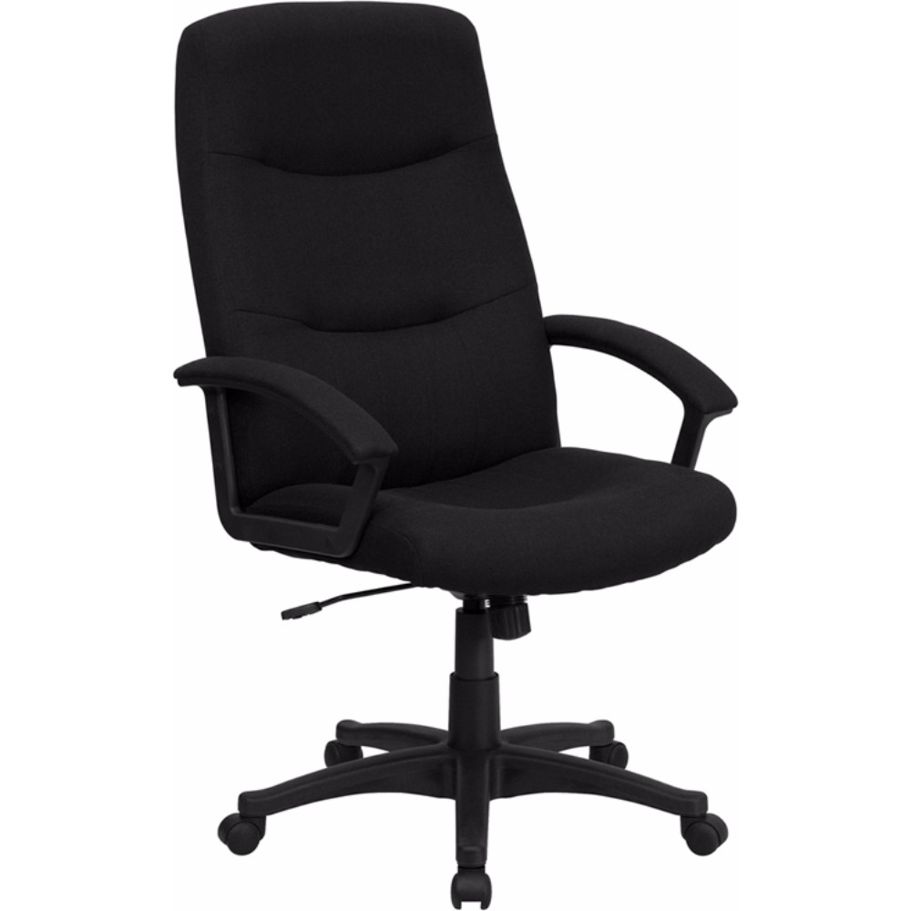Offex High Back Black Fabric Executive Swivel Office Chair [BT-134A-BK-GG]