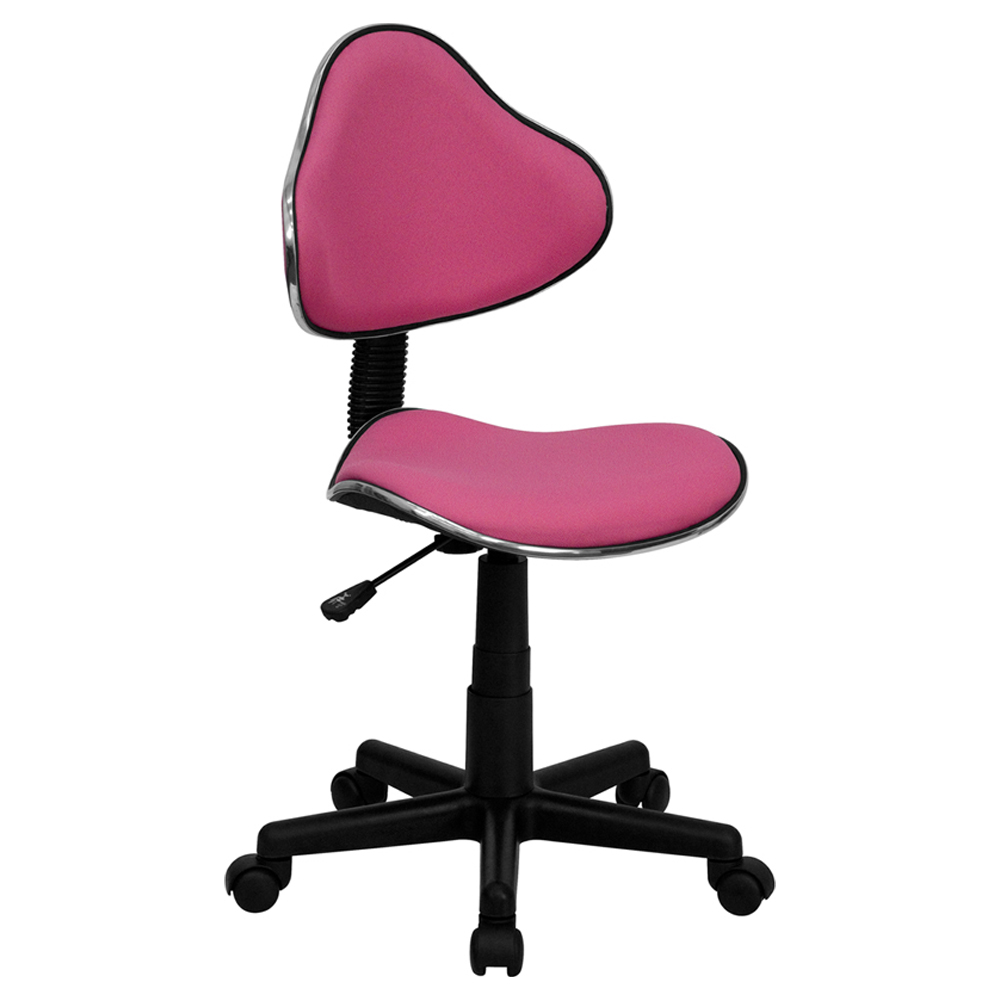 Offex Pink Fabric Ergonomic Task Chair