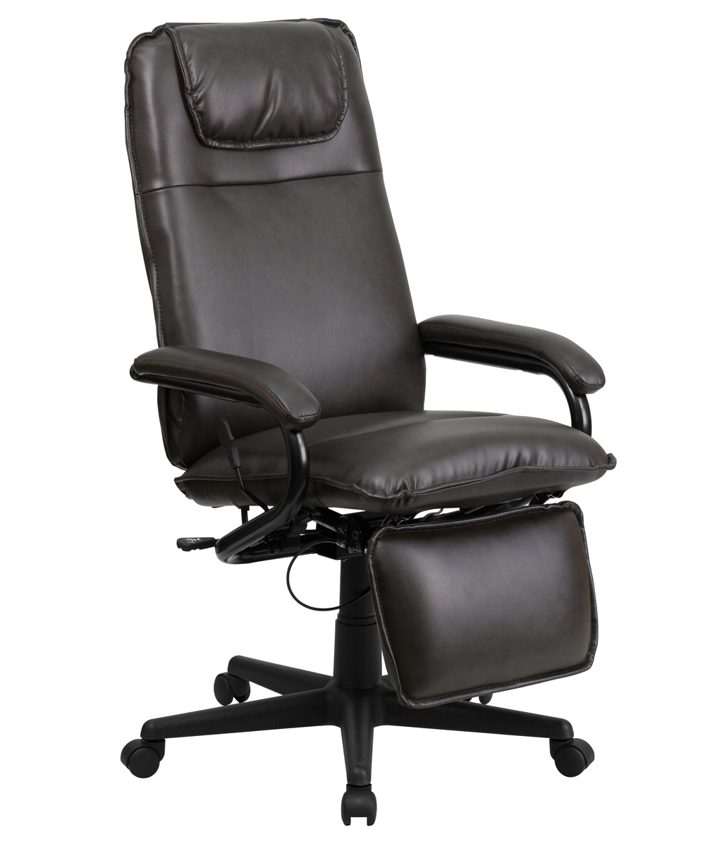 Flash Furniture High Back Brown Leather Executive