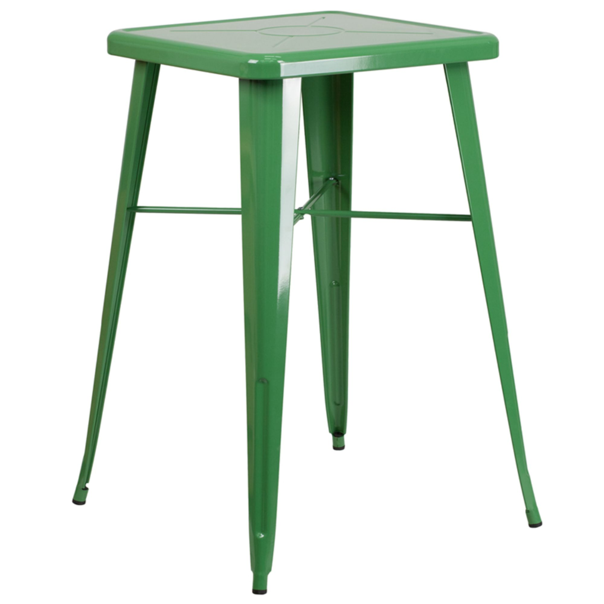 Offex 24-inch Square Metal Bar Height Table