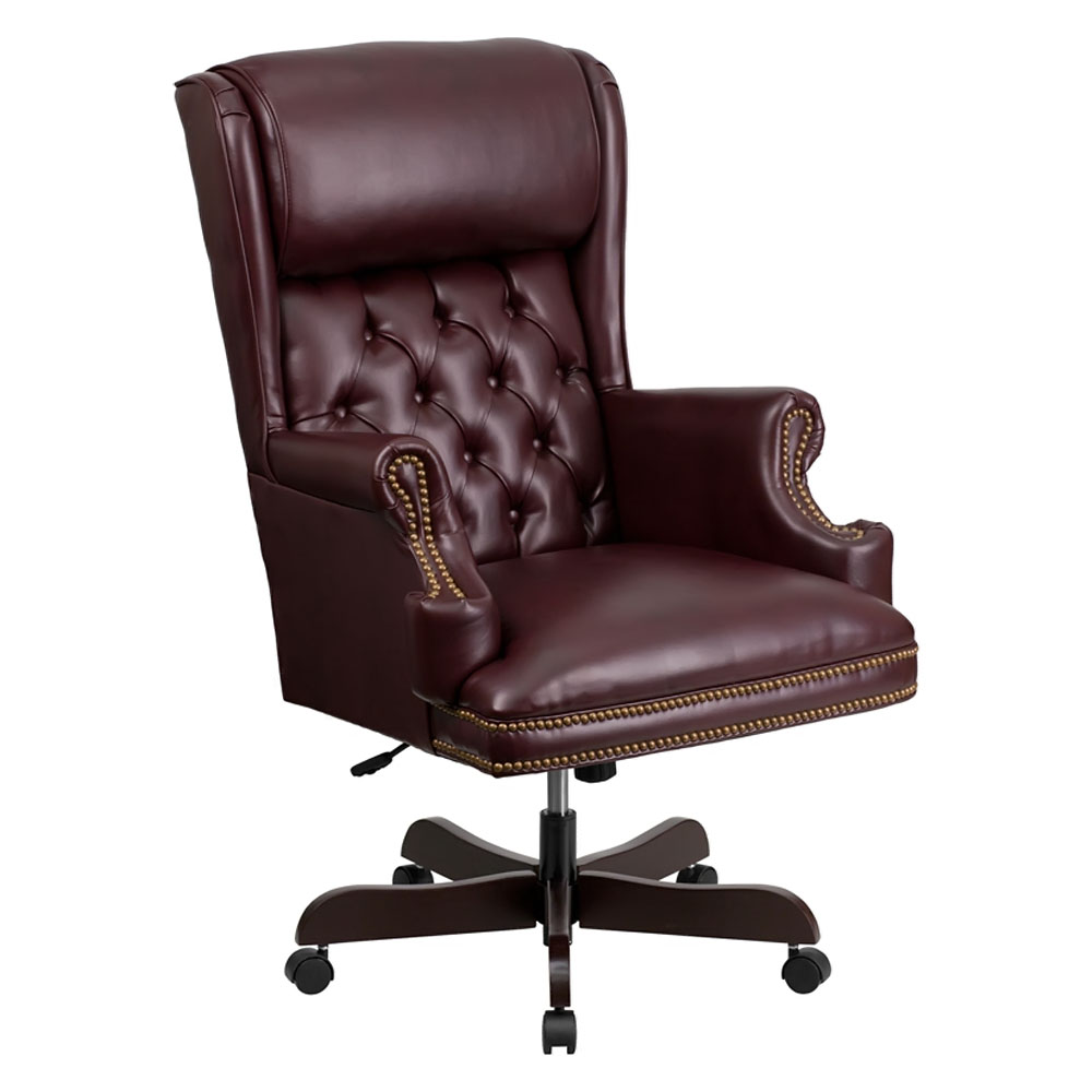 Flash Furniture High Back Traditional Tufted Burgundy Leather Executive Office Chair [CI-J600-BY-GG]